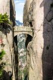 Fairy мост на горе желтого цвета Mt Huangshan, Китае Стоковые Изображения RF