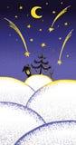 Fairy ноча рождества иллюстрация вектора