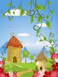 Fairy дома в цветах Стоковая Фотография RF