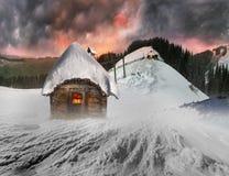 Fairy дом в горах Стоковая Фотография