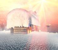 Fairy дом в горах Стоковые Изображения