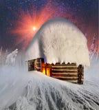 Fairy дом в горах Стоковое Изображение RF