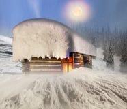 Fairy дом в горах Стоковое фото RF