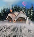 Fairy дом в горах Стоковые Изображения RF