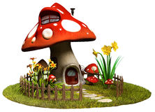Fairy дом гриба бесплатная иллюстрация
