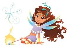 fairy палочка волшебства девушки иллюстрация вектора