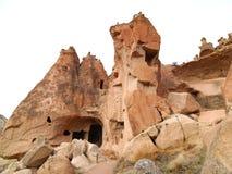 Fairy печные трубы в долине Zelve на Cappadocia, Турции Стоковые Изображения RF