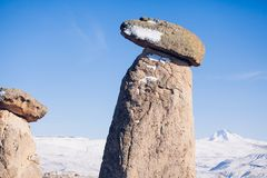 Fairy печные трубы на Cappadocia, Турции 3 красоты на Urgu Стоковое Изображение