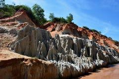 Fairy поток, красный каньон в Ne Mui, Вьетнаме стоковая фотография rf