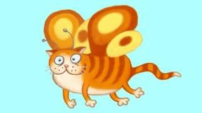 Fairy полет кота Стоковое Фото