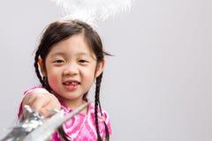 Fairy предпосылка ребенка/Fairy ребенок/Fairy ребенок на изолированной белой предпосылке Стоковые Изображения