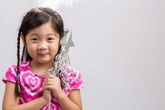 Fairy предпосылка ребенк/Fairy ребенк/Fairy ребенк на изолированном белом b Стоковые Фото