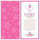 Fairy приглашение поздравительой открытки ко дню рождения Стоковые Фото