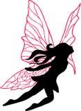 fairy силуэт иллюстрации Стоковое Изображение RF