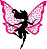 fairy силуэт иллюстрации Стоковые Изображения