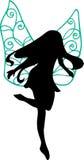 fairy силуэт иллюстрации Стоковое фото RF