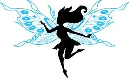 fairy силуэт иллюстрации Стоковая Фотография RF