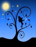 Fairy силуэт с эффектной демонстрацией Стоковые Фотографии RF