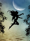 fairy силуэт Стоковые Фото