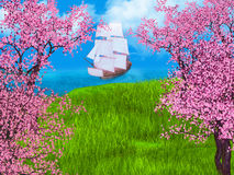 fairy сказовый сказ дворца светильника иллюстрации Стоковые Фотографии RF