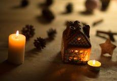 Fairy торт дома рождества Стоковые Изображения