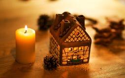 Fairy торт дома рождества Стоковая Фотография