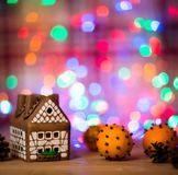 Fairy торт дома рождества Стоковые Фото