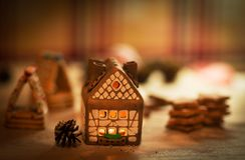 Fairy торт дома рождества Стоковые Изображения RF