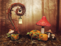 Fairy фонарик на луге бесплатная иллюстрация