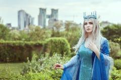 Fairy эльф женщины в старом платье Стоковое Фото