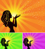 fairy девушка делает желание Стоковое Изображение