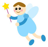 Fairy 01. Blue fairy with magic stick Royalty Free Stock Photography