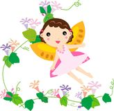 Fairy. Cute flower fairy - Art  Illustration Royalty Free Stock Photography