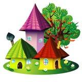 fairy дома иллюстрация штока