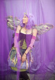 Fairy. Female Fairy in her purple dream Stock Photography