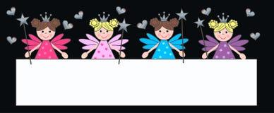 Fairy. Invitation or celebration header for children Stock Image