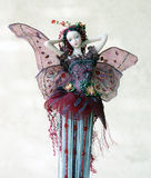 Fairy. Doll with pink wings stock images
