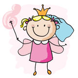Fairy. Little fairy girl with a magic wand. EPS8 without transparent and gradients, easy to edit Stock Photo