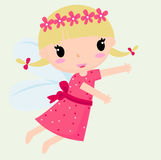 Fairy. Illustration of a girl fairy Stock Photos