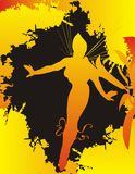 Fairy. Fantasy fairy - yellow red -  illustration Royalty Free Stock Photos