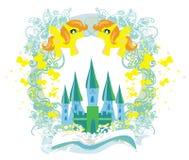 Fairy замок появляясь от книги Стоковое Изображение