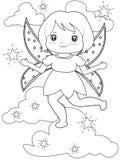 Сверкная fairy страница расцветки Стоковые Фото