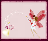 Fairy. Cute fairy put the magic wand Royalty Free Stock Photography