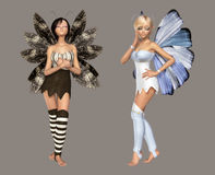 Fairy. Digital cute fairies for your artistic creations and/or projects Stock Photo