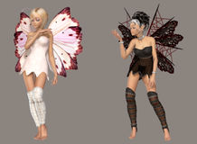 Fairy. Digital cute fairies for your artistic creations and/or projects Stock Photography