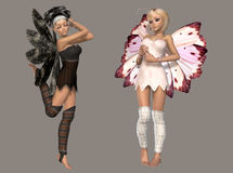 Fairy. Digital cute fairies for your artistic creations and/or projects Royalty Free Stock Photography