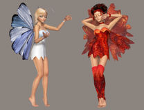 Fairy. Digital cute fairies for your artistic creations and/or projects Royalty Free Stock Images