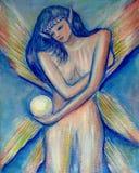 fairy меланхоличная картина Стоковые Фотографии RF