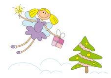 Fairy agradável do Natal Fotografia de Stock