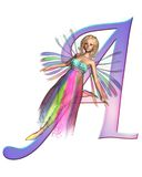Fairy Alphabet - letter A Royalty Free Stock Image